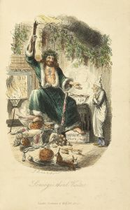 The Ghost of Christmas Present from Dickens' 'A Christmas Carol' - likely Father Chrstmas