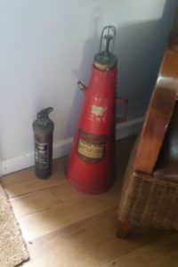 Antique Fire Equipment at Claxton Hall Cottage B& York